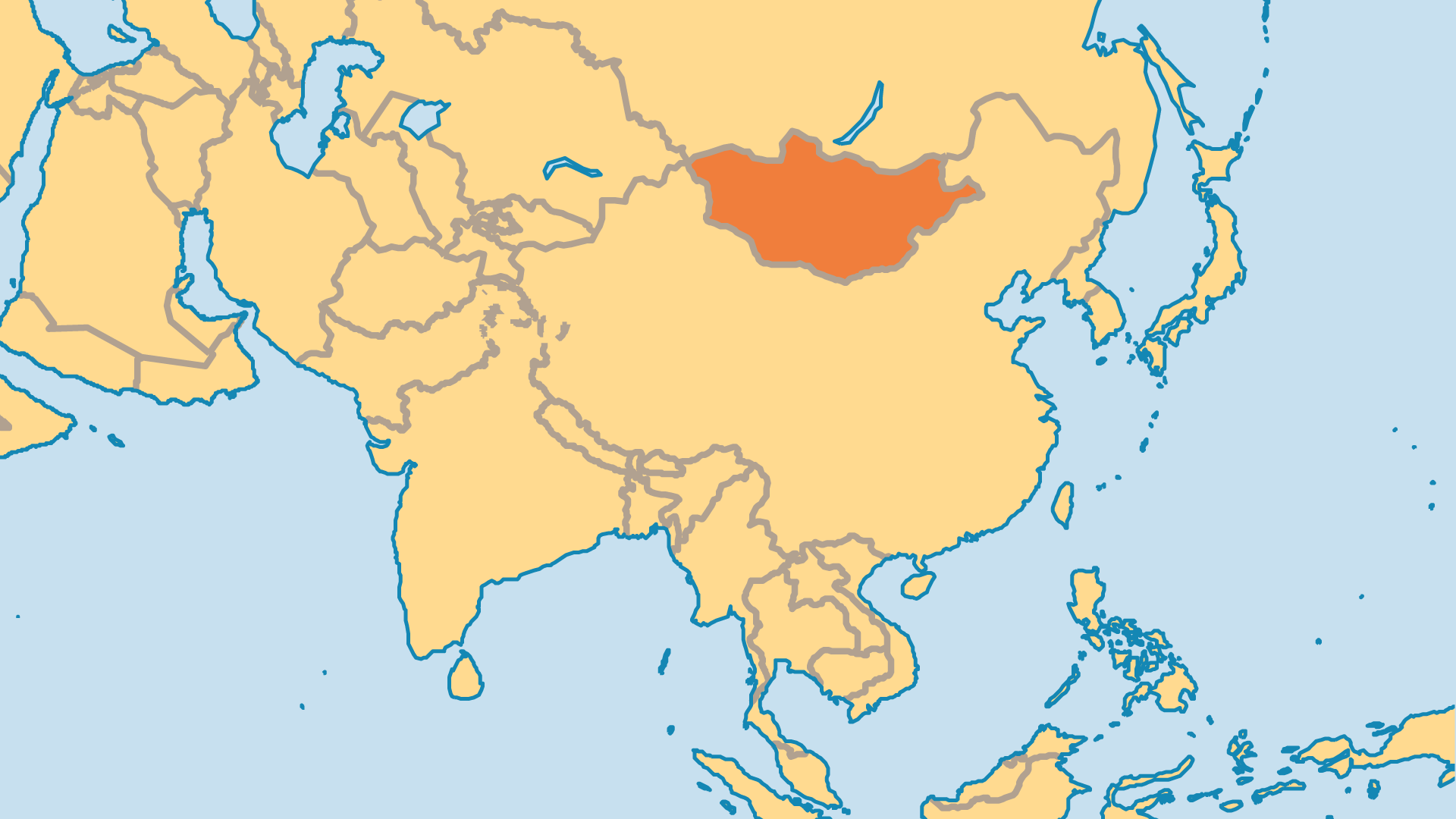 Locator Map for Mongolia