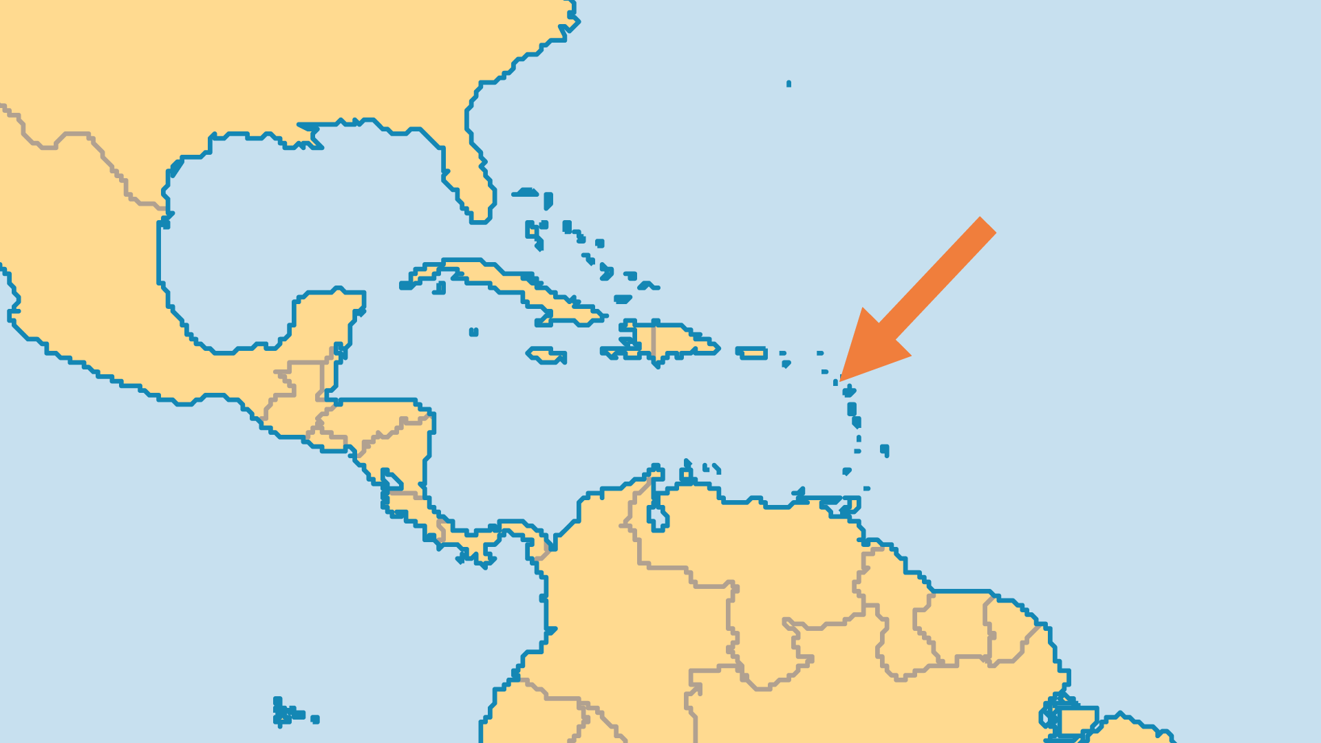 Locator Map for Montserrat