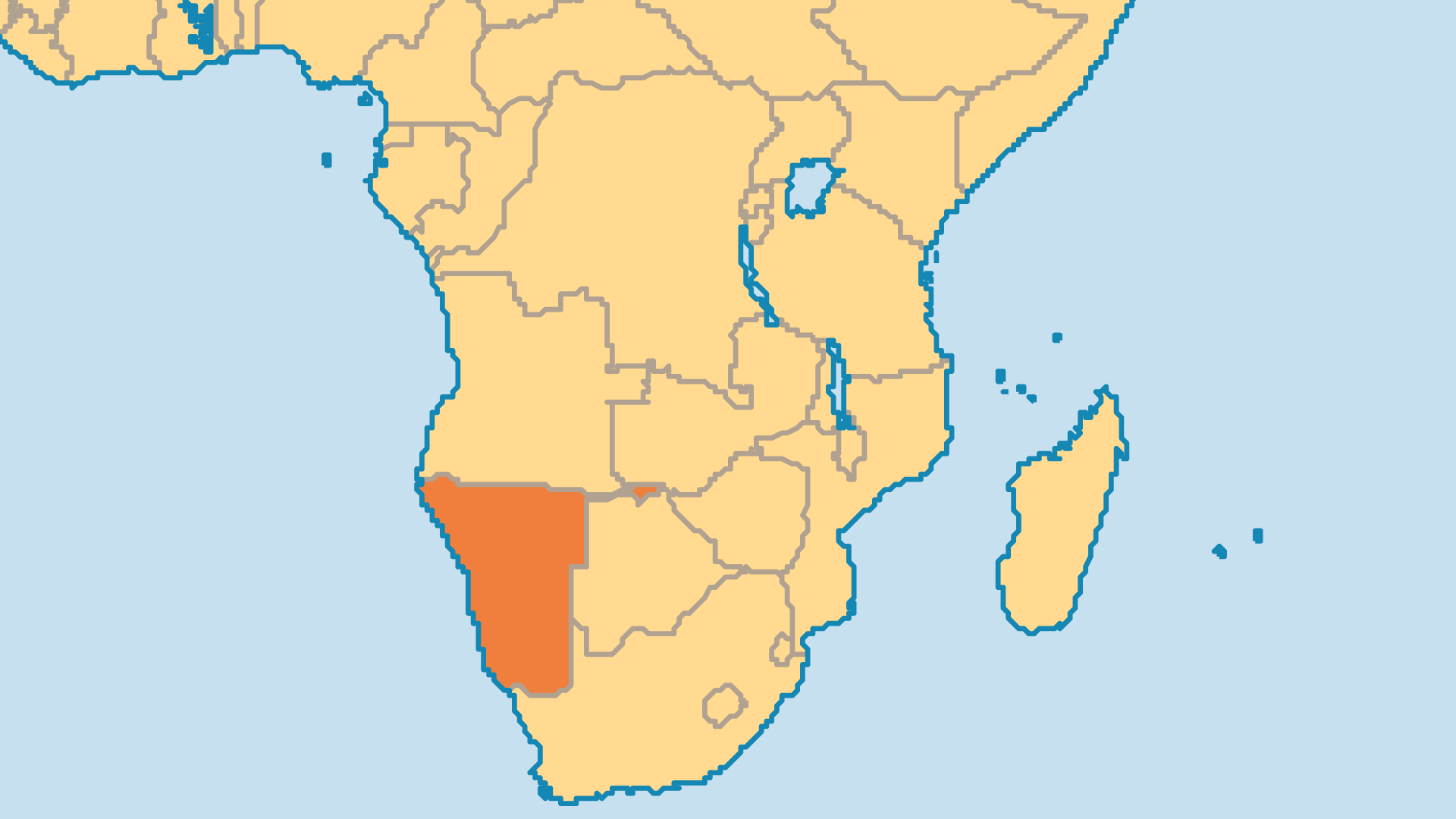 Locator Map for Namibia
