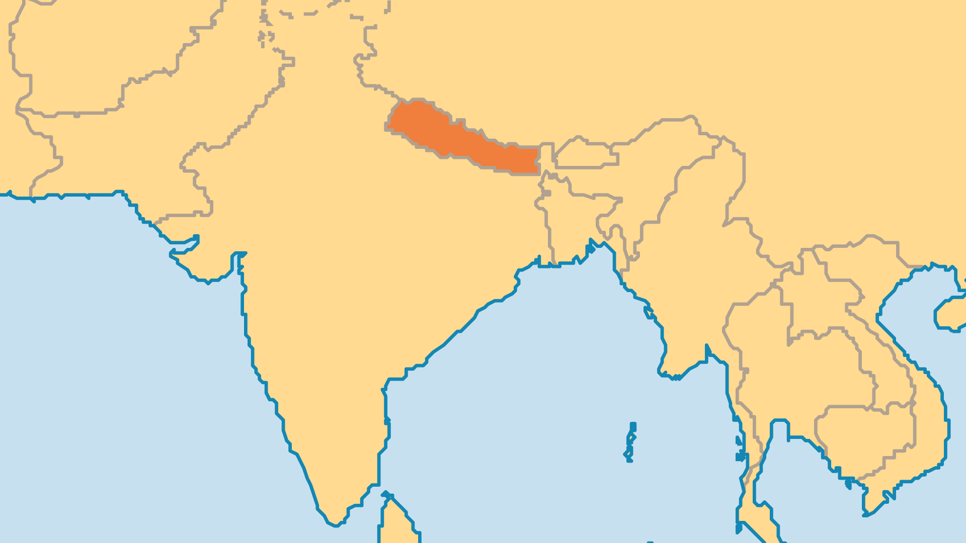 Locator Map for Nepal