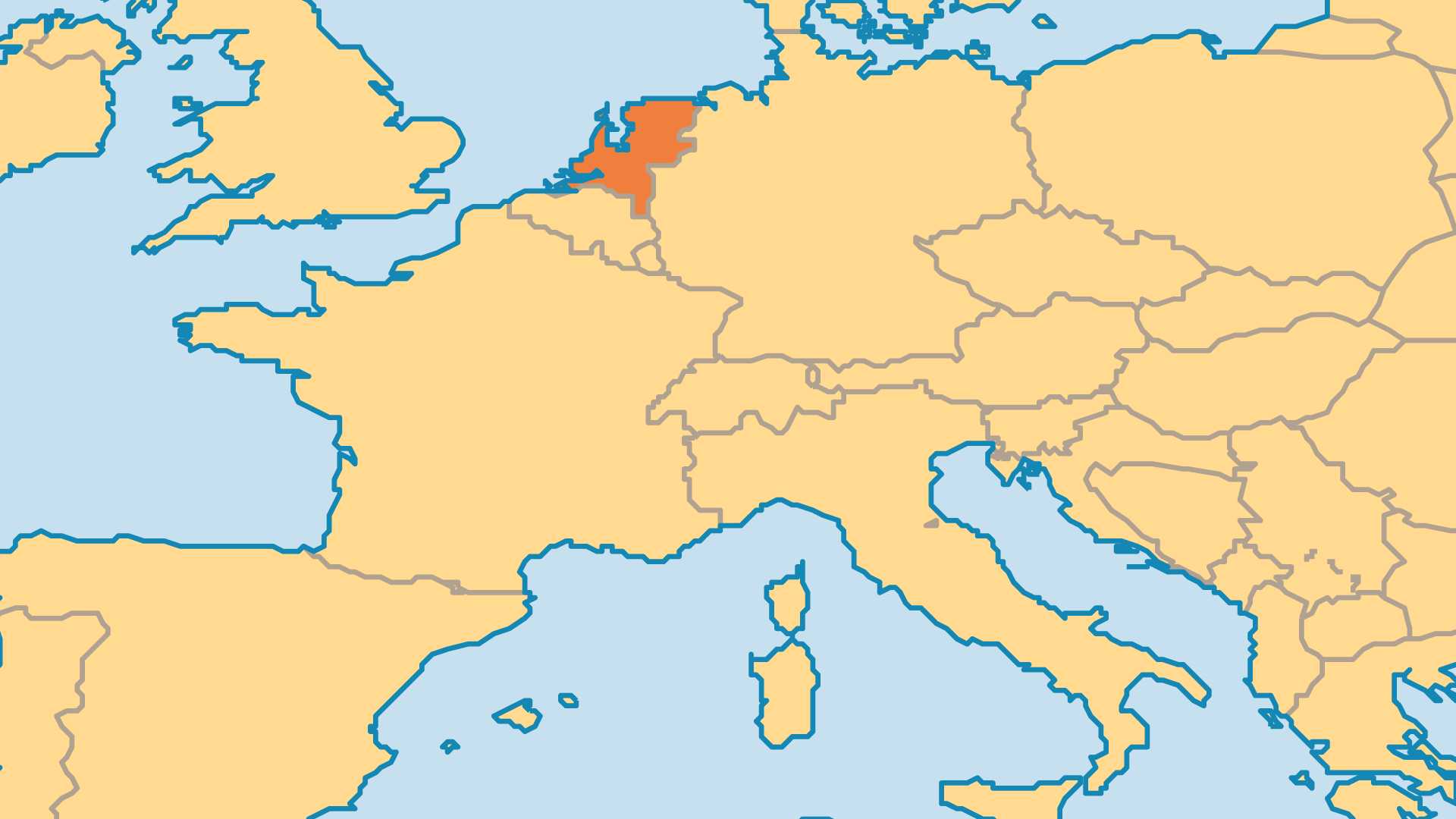 Locator Map for Netherlands