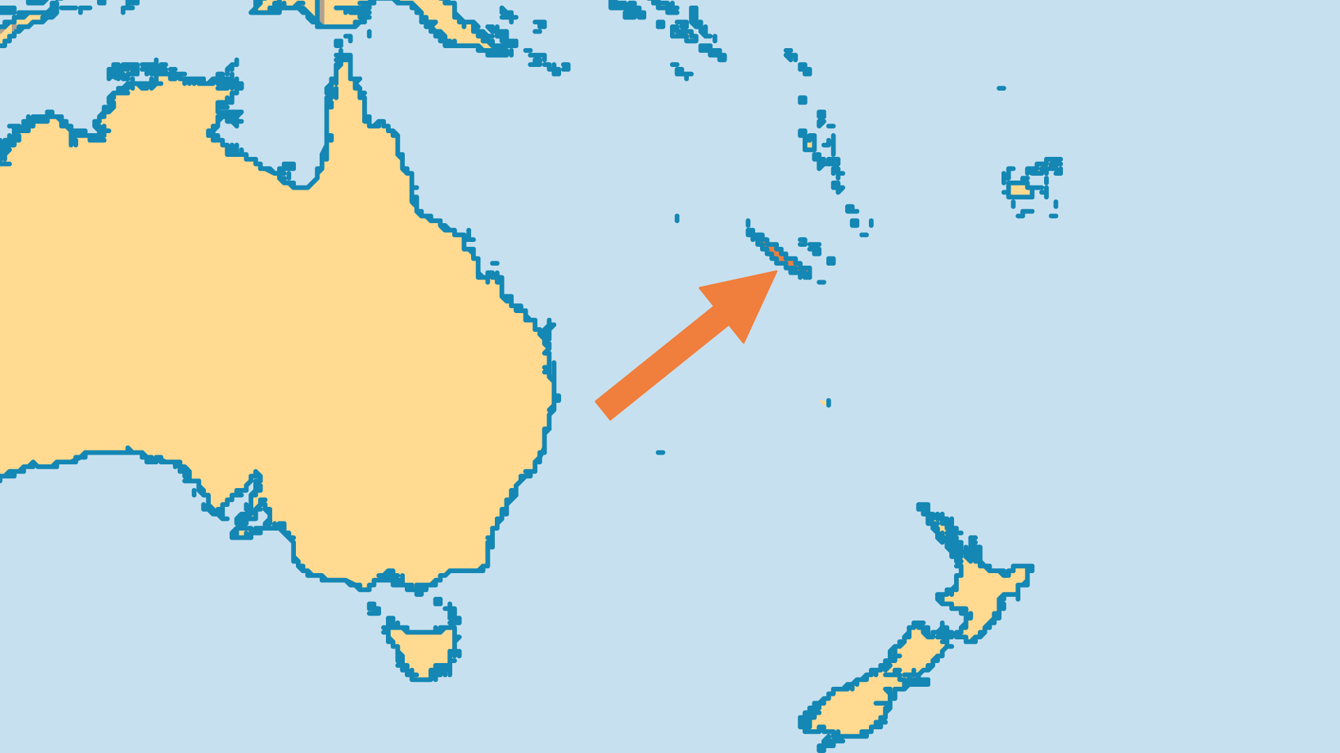 Locator Map for New Caledonia