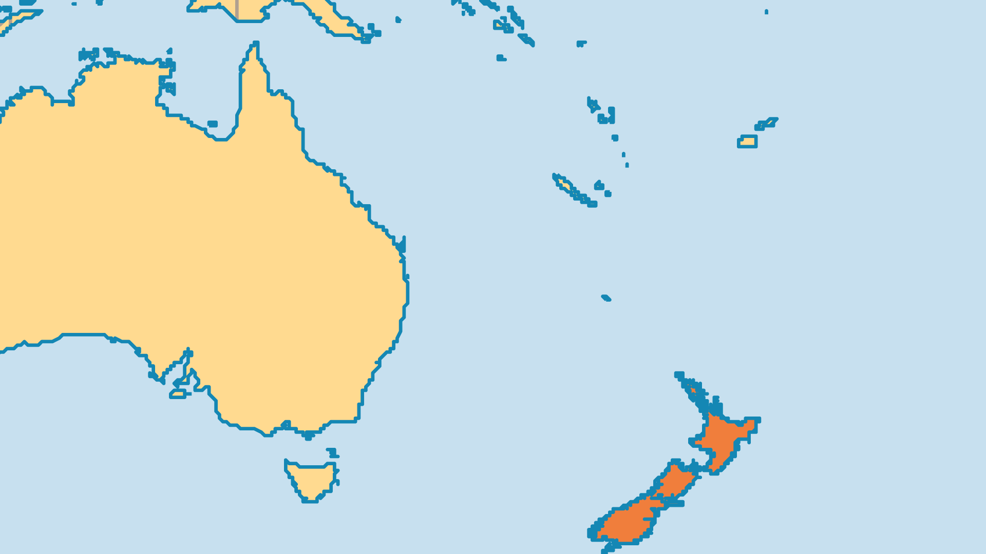 Locator Map for New Zealand