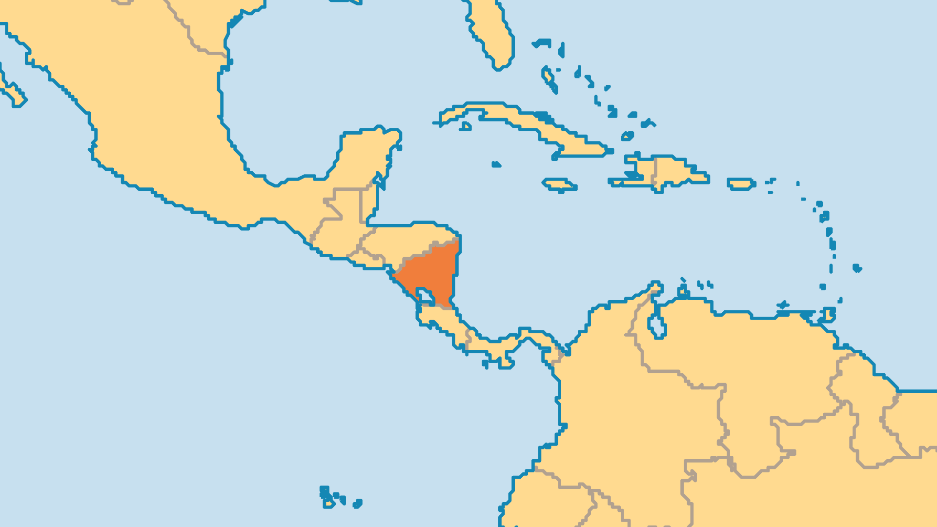 Locator Map for Nicaragua