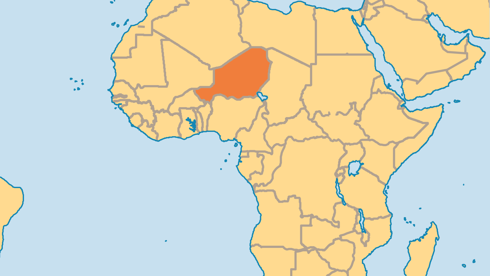 Locator Map for Niger