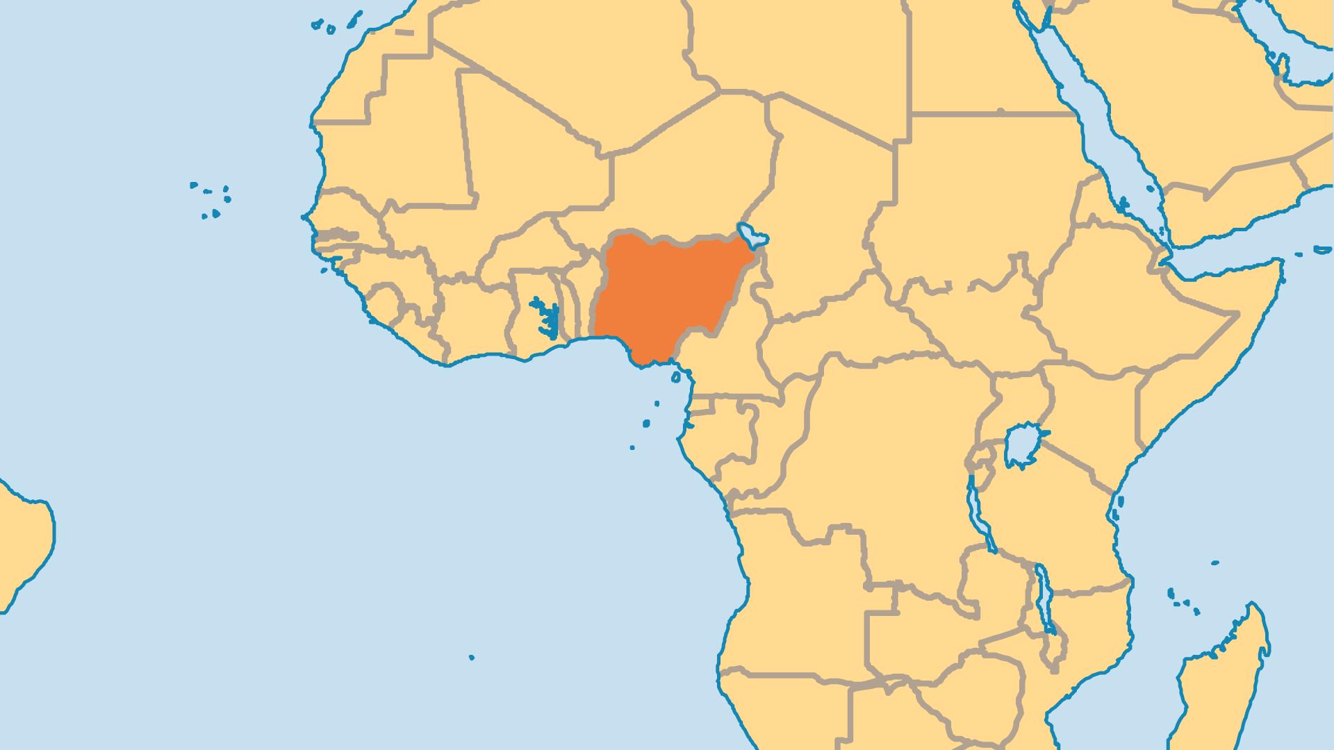 Locator Map for Nigeria