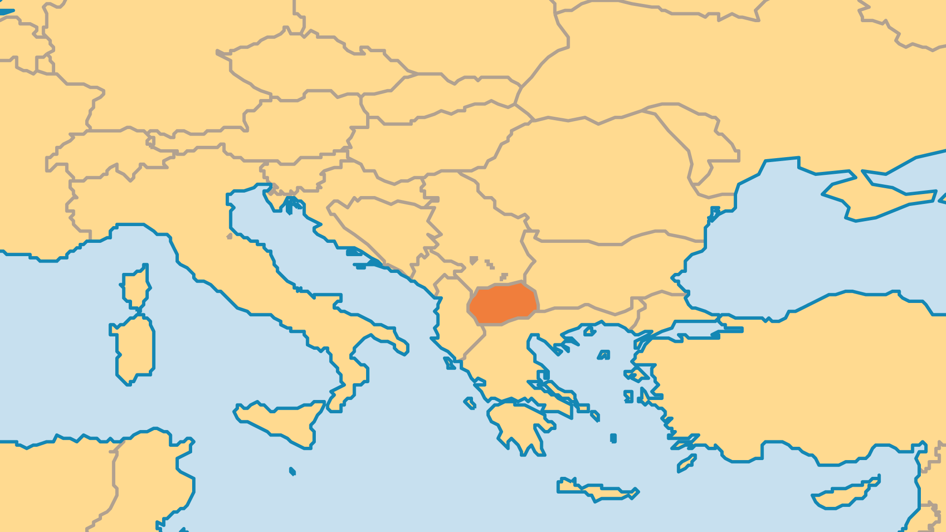 Locator Map for North Macedonia