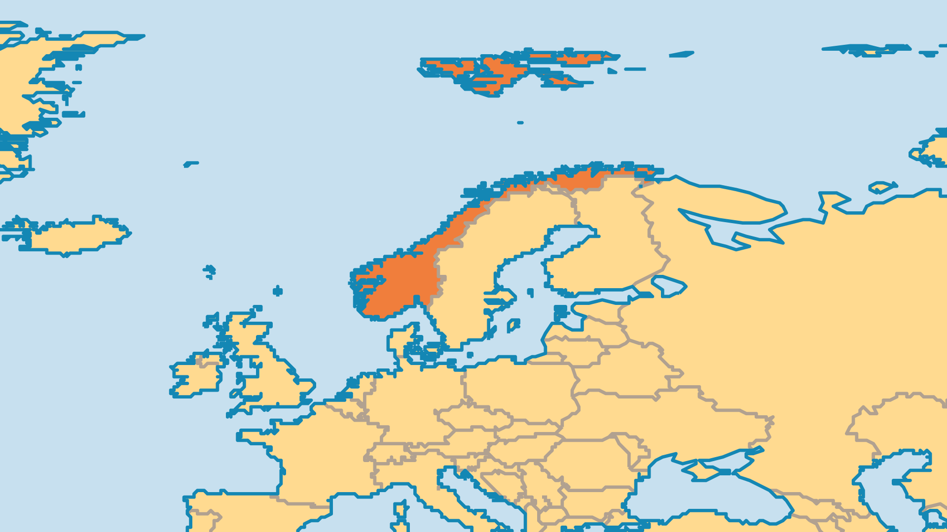 Locator Map for Norway