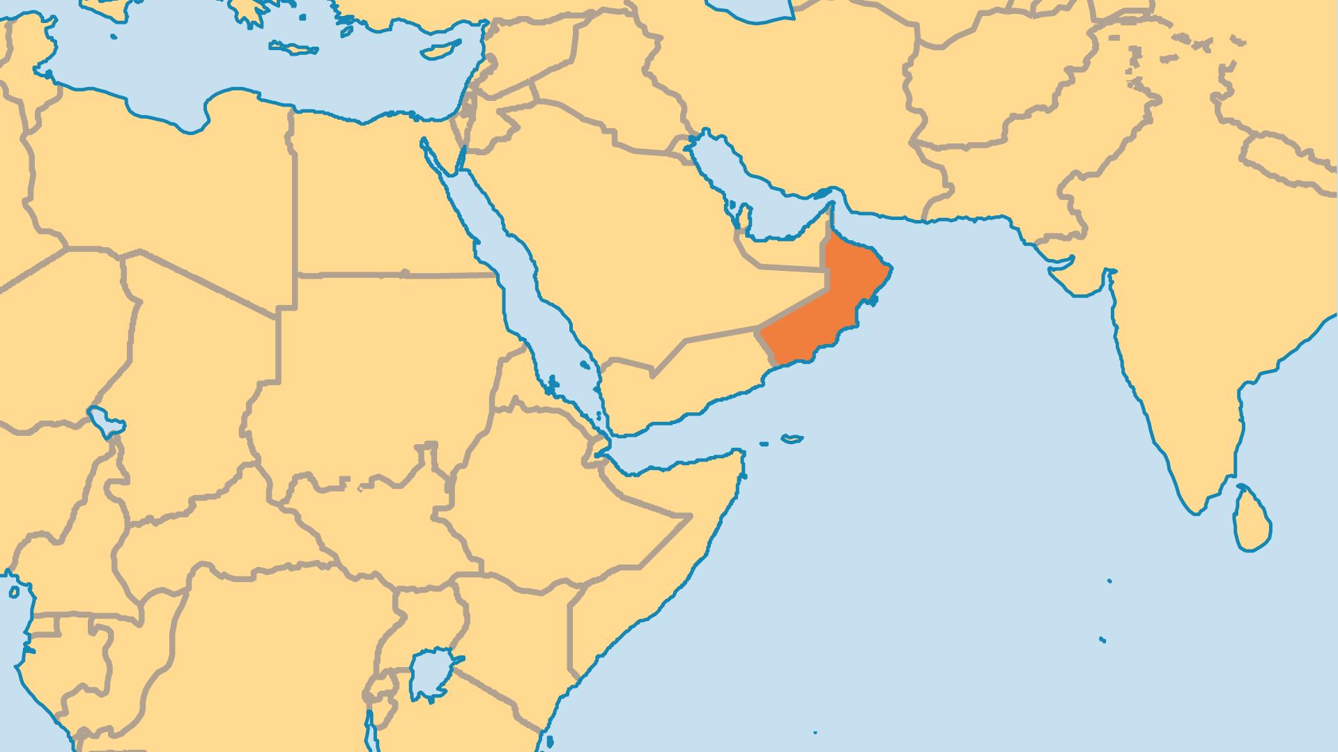 Locator Map for Oman