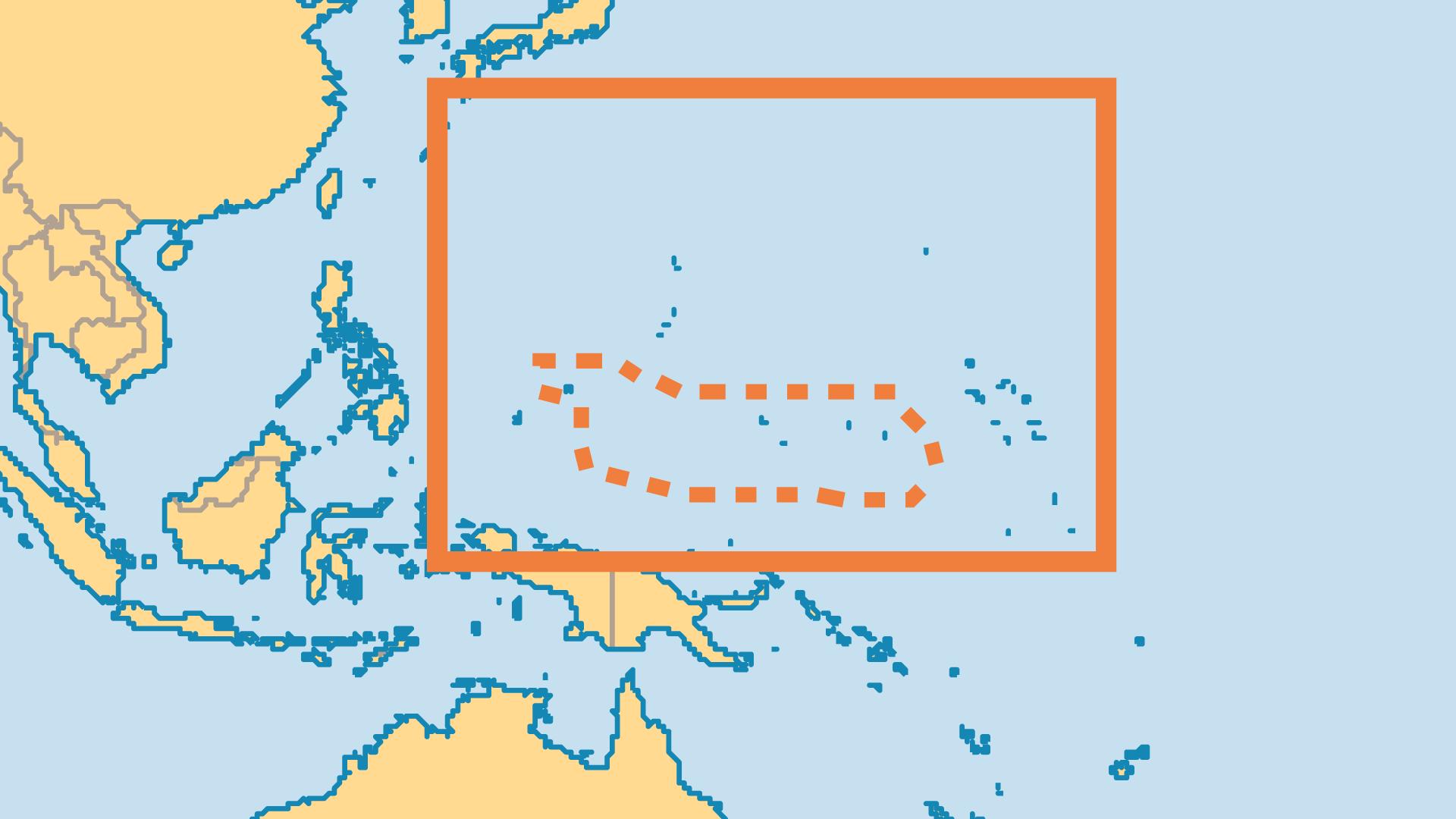 Locator Map for Palau
