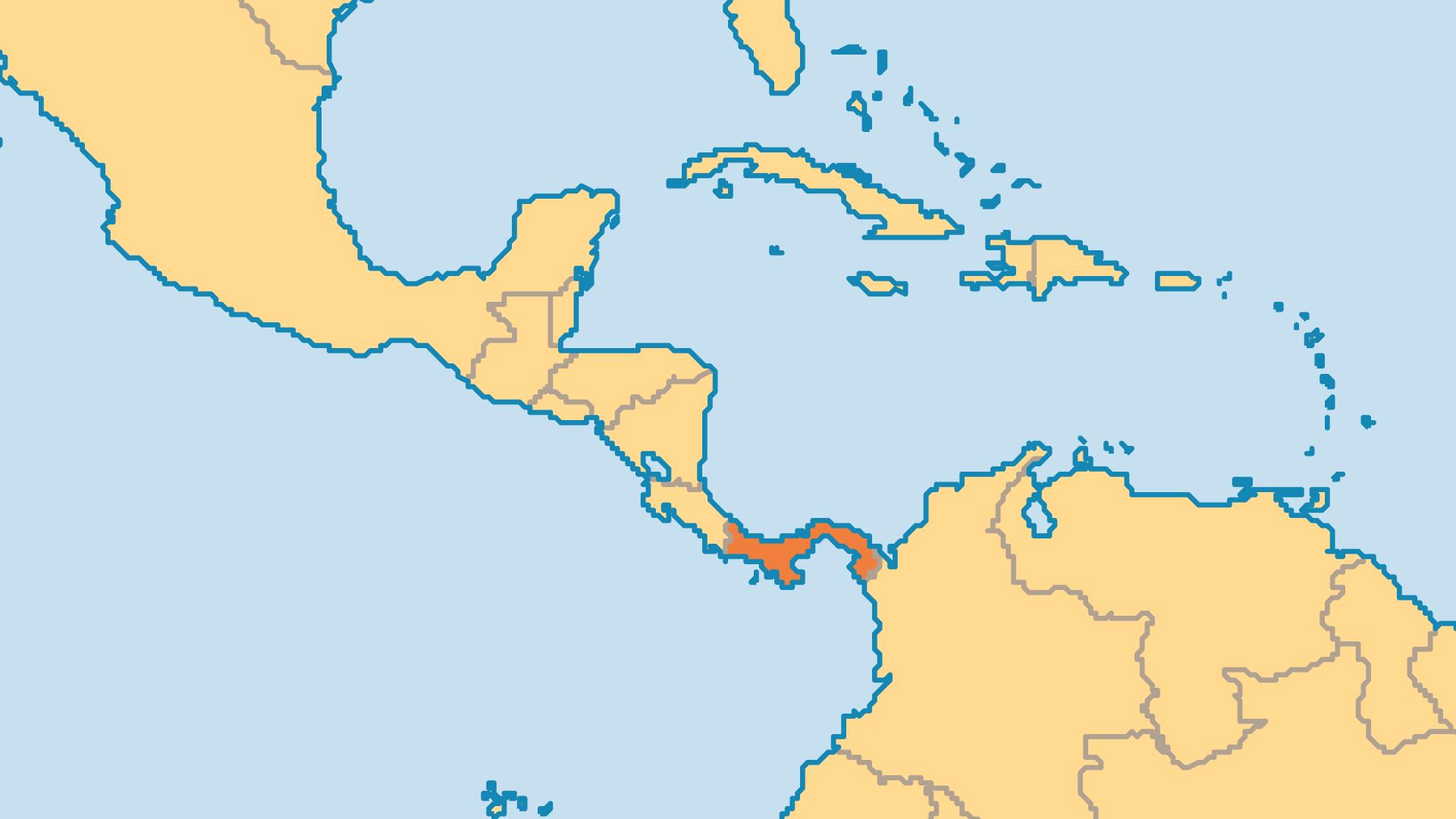 Locator Map for Panama