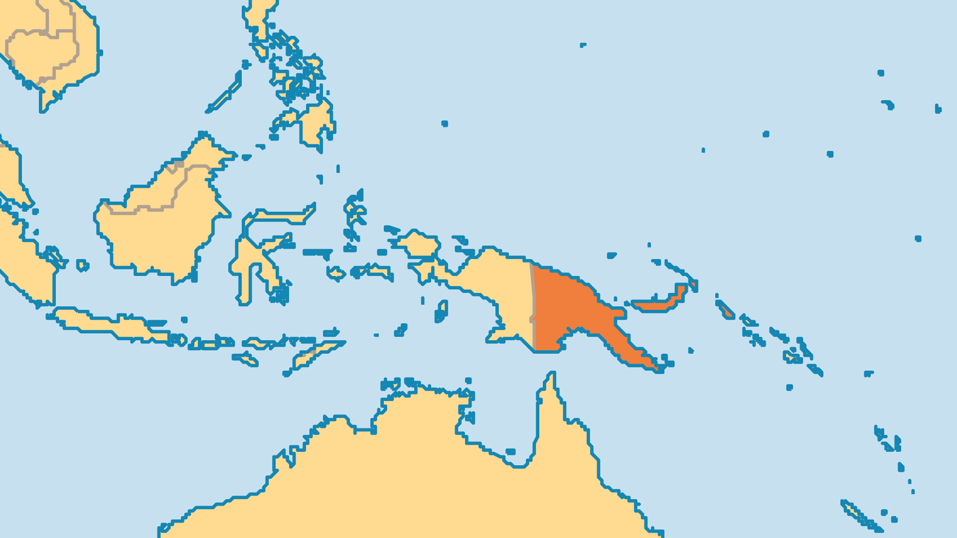 Locator Map for Papua New Guinea