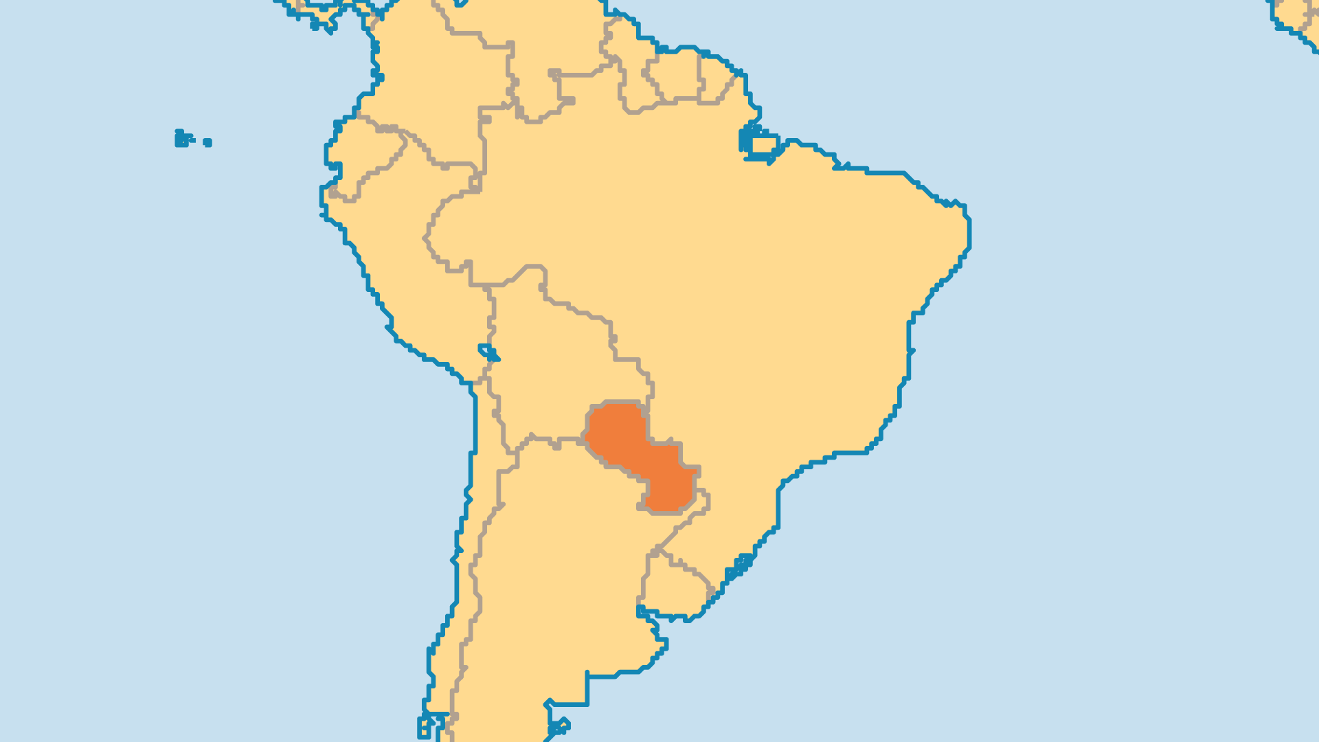 Locator Map for Paraguay
