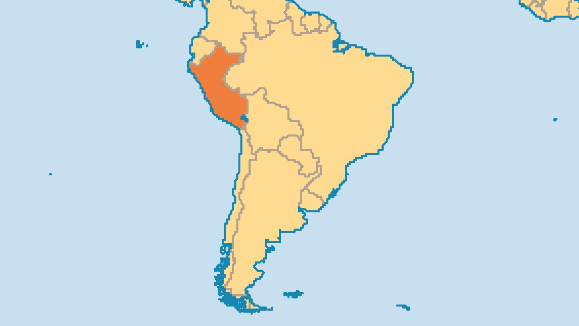 Locator Map for Peru