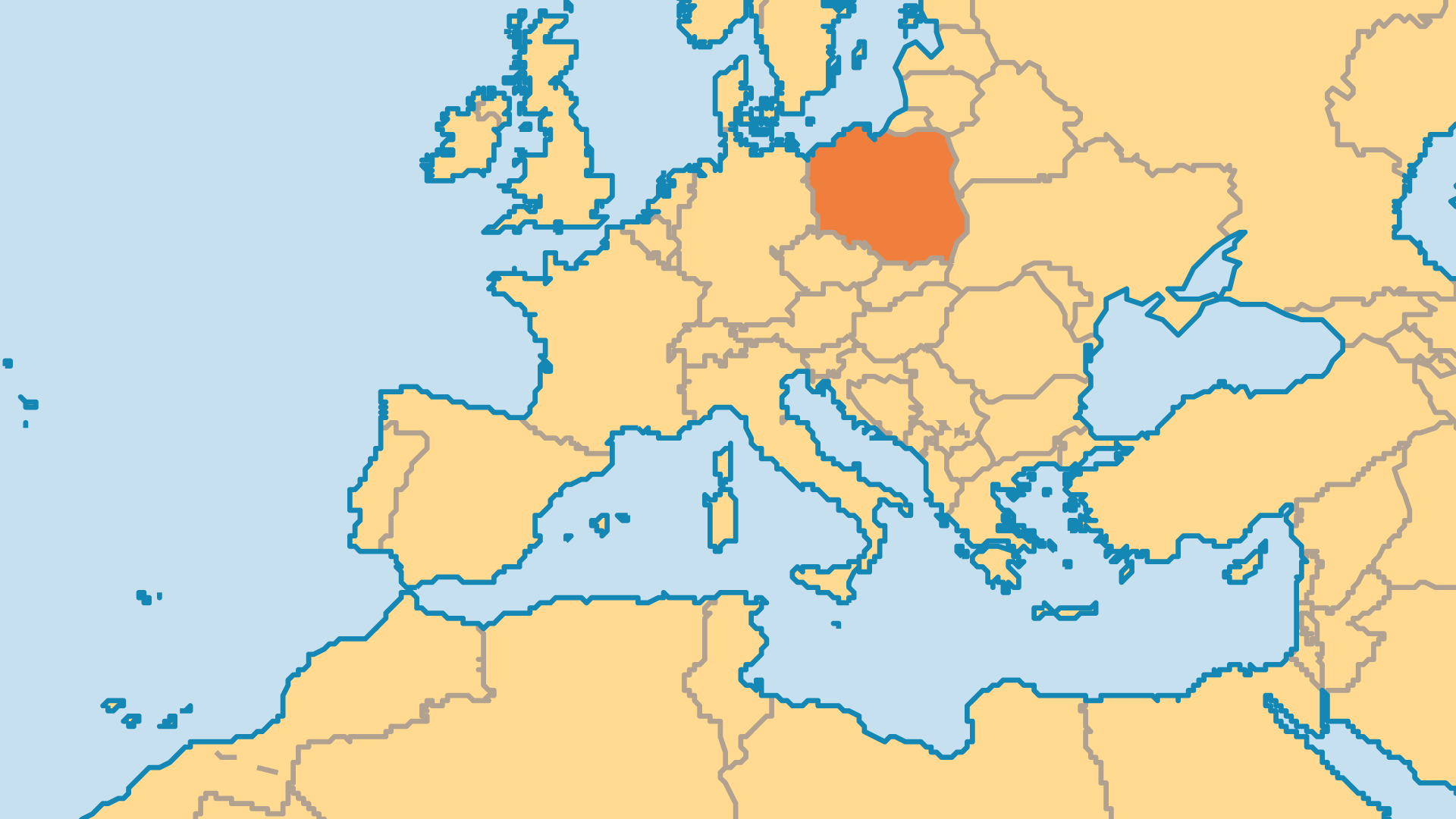 Locator Map for Poland