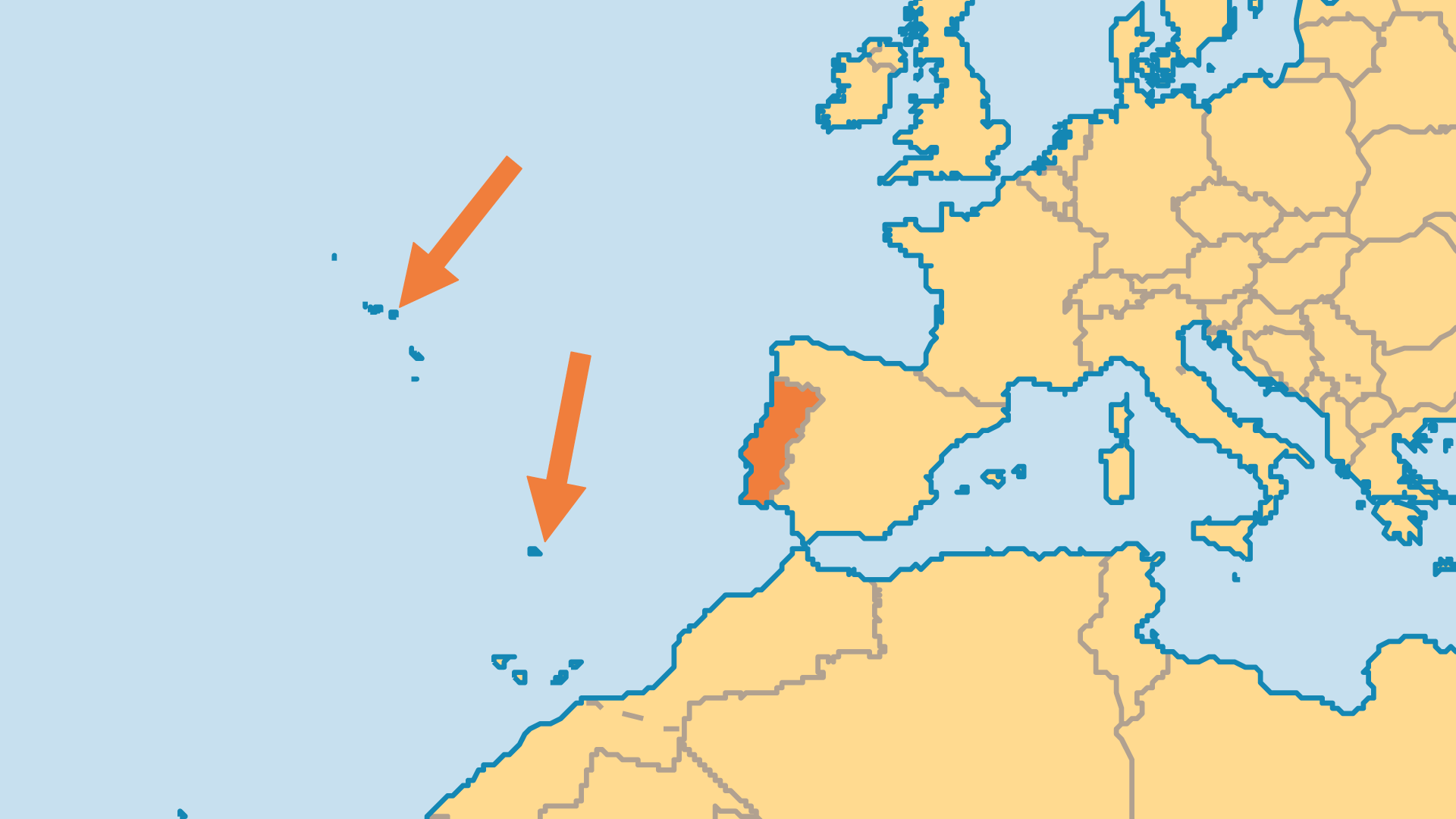 Locator Map for Portugal