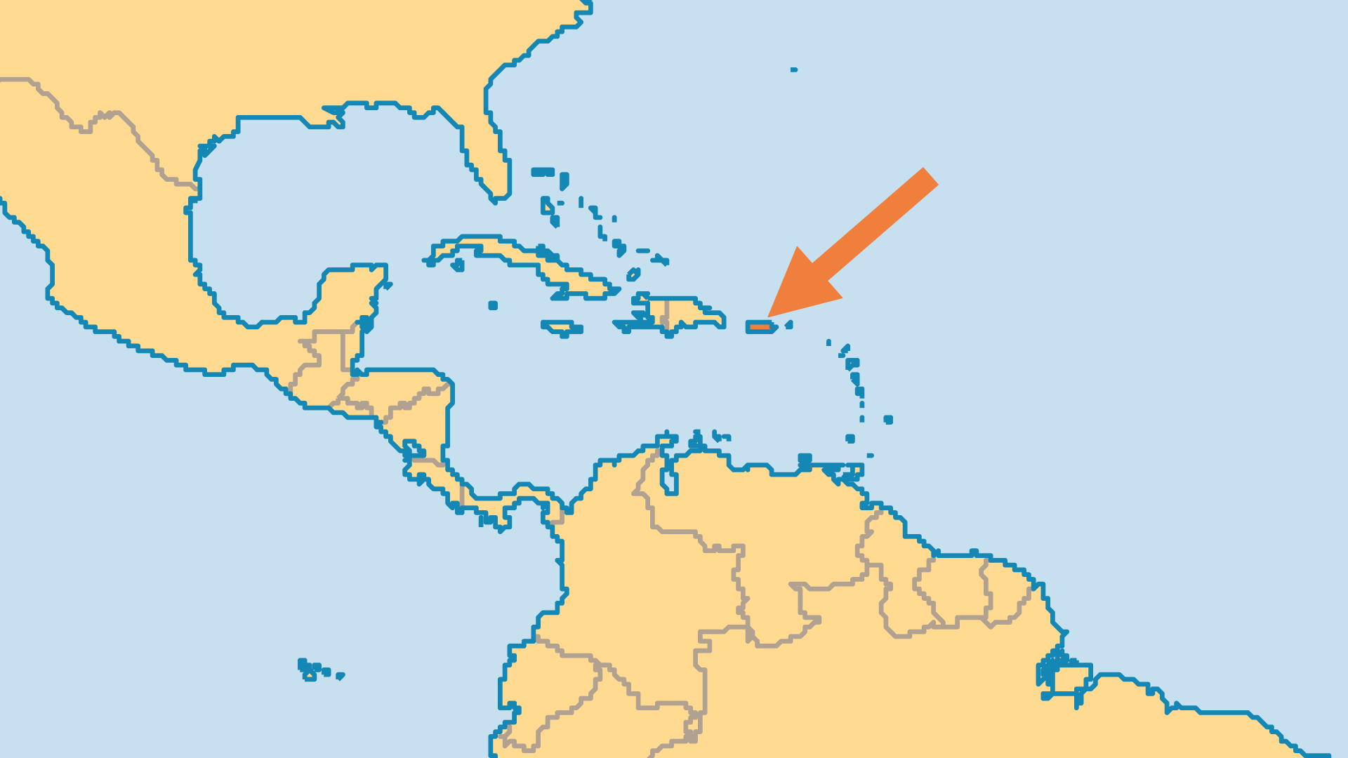 Locator Map for Puerto Rico