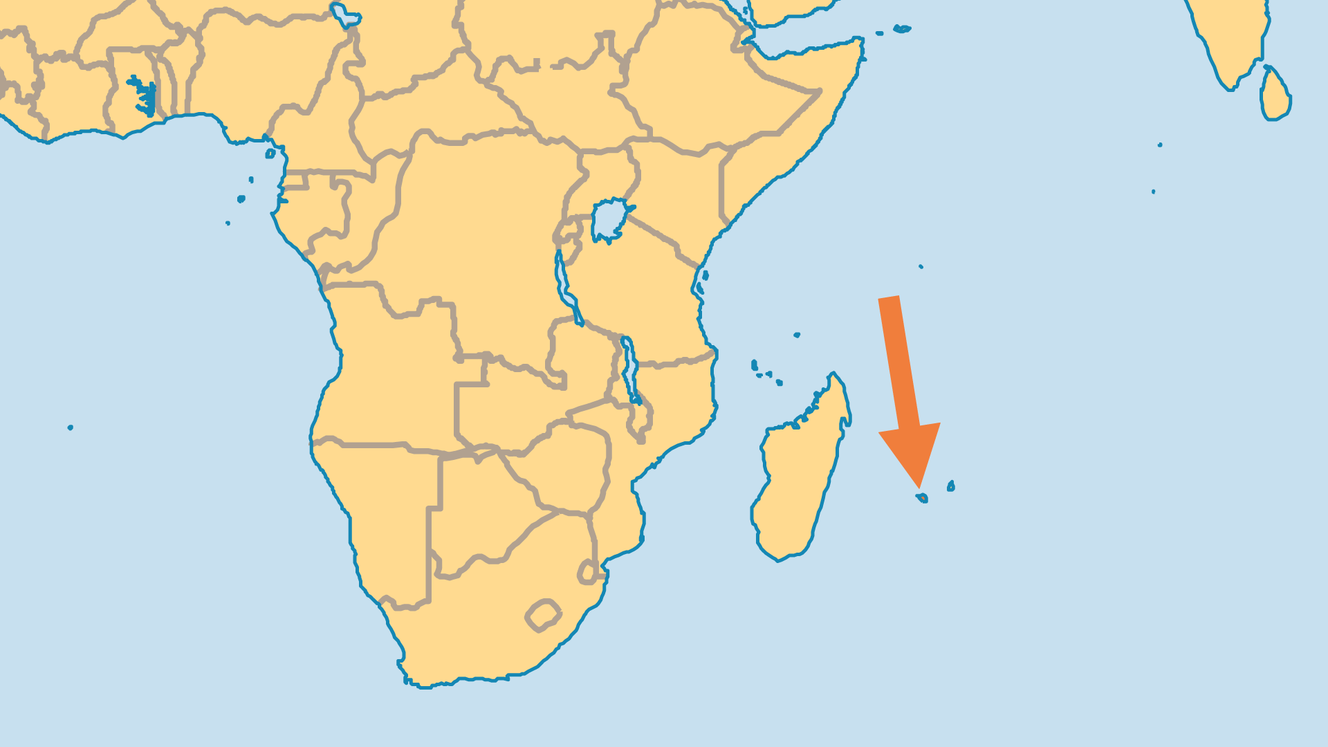 Locator Map for Reunion
