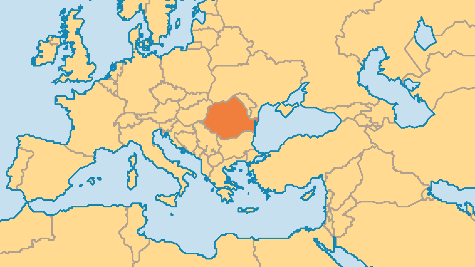 Locator Map for Romania