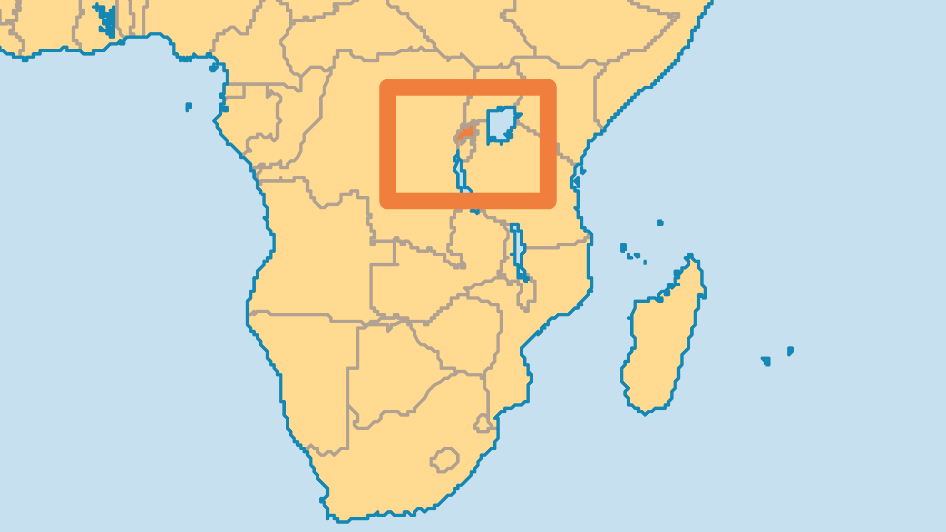Locator Map for Rwanda