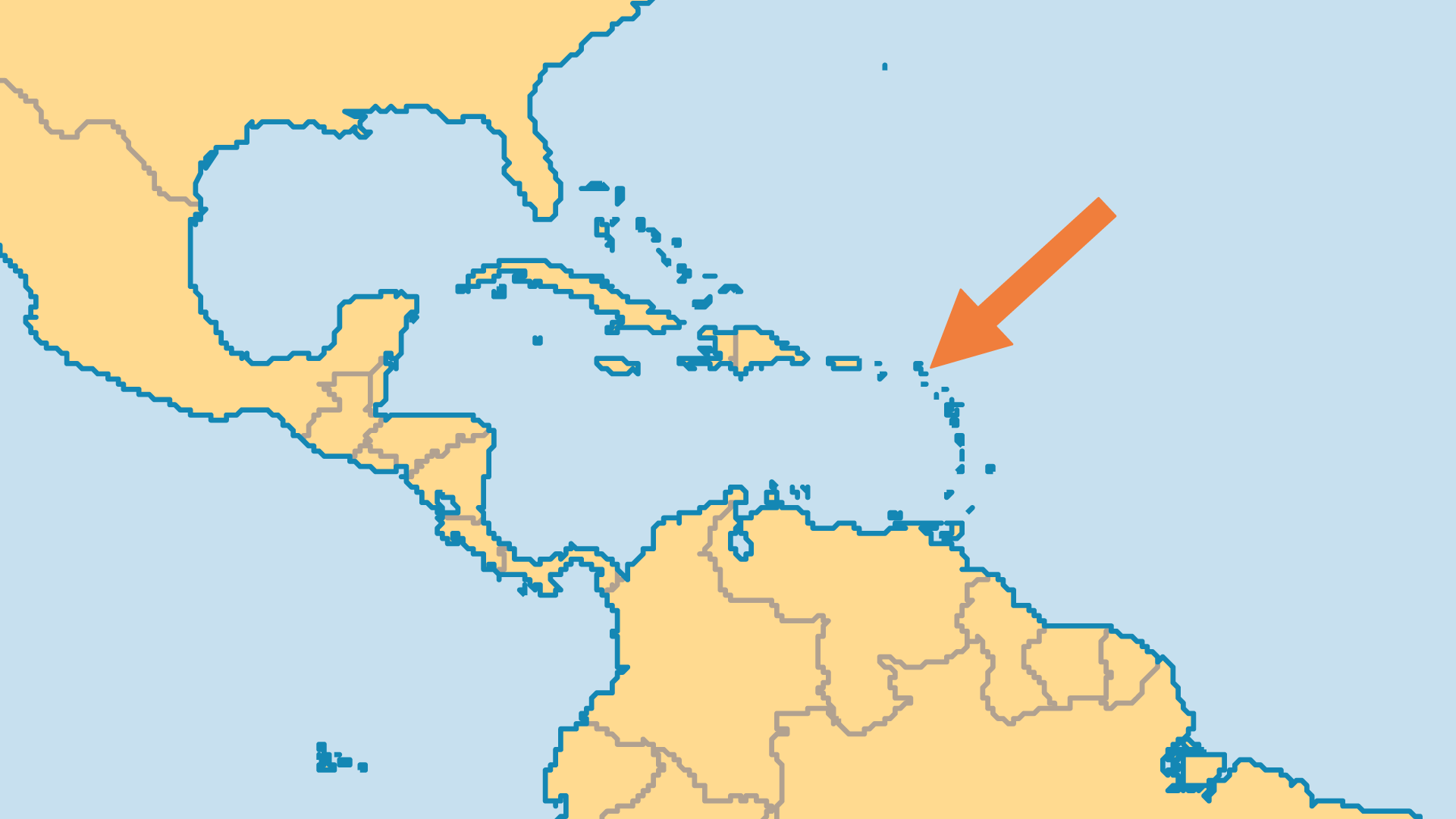 Locator Map for Saint Barthelemy