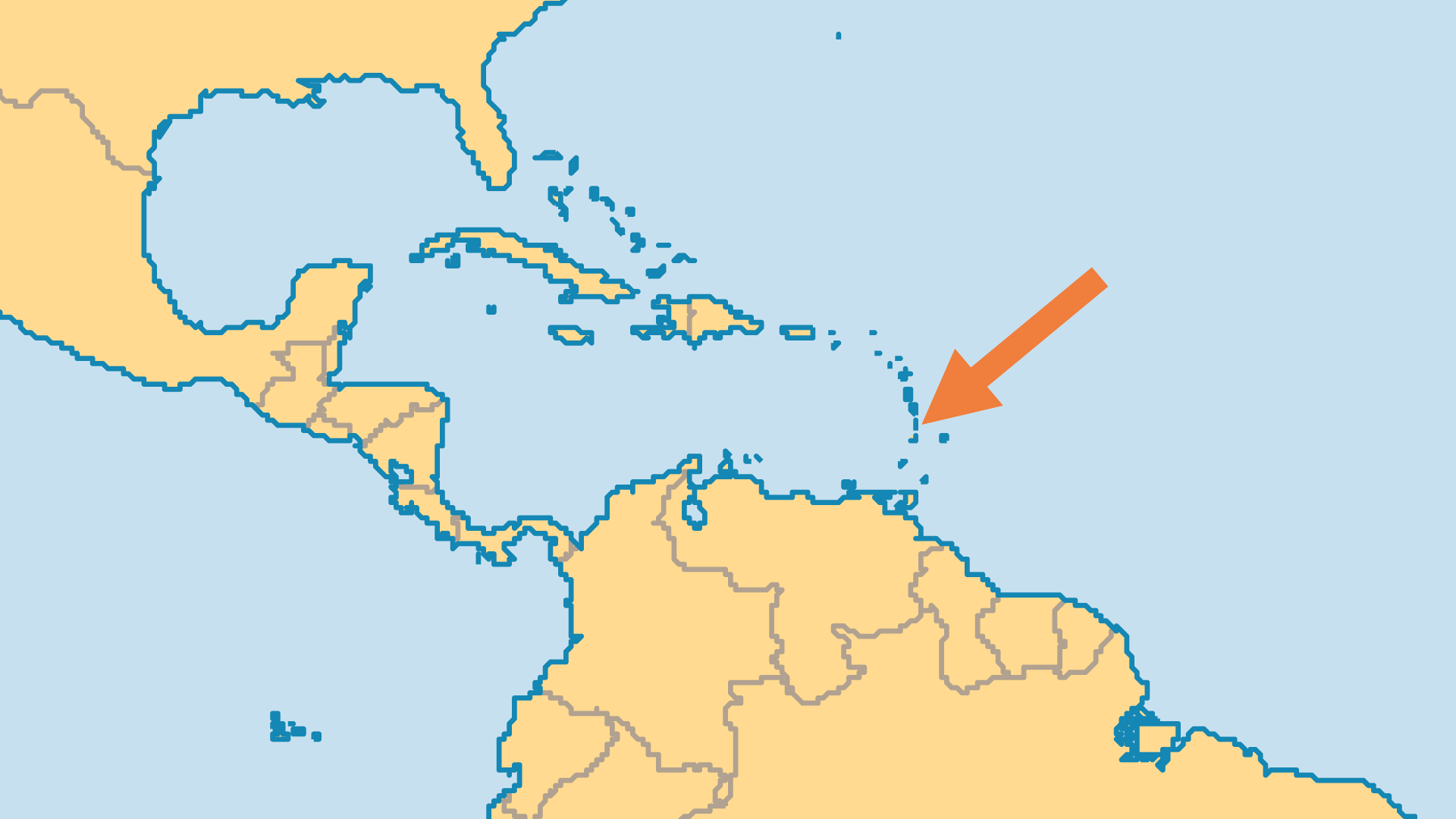 Locator Map for Saint Lucia