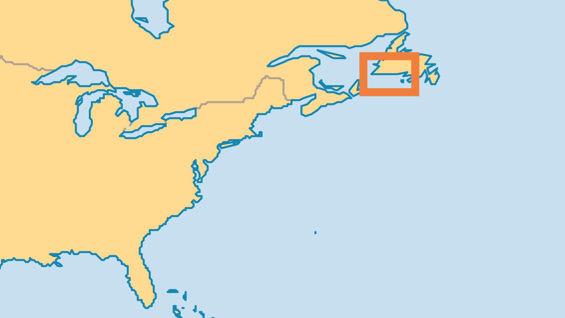 Locator Map for Saint Pierre & Miquelon