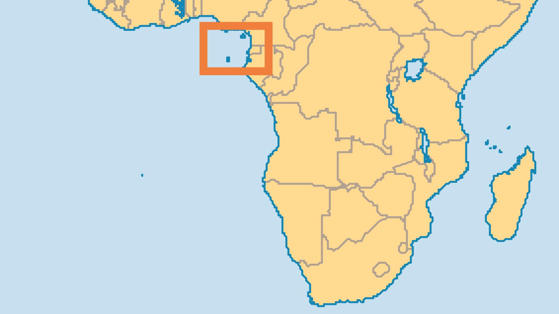 Locator Map for Sao Tomé & Principe