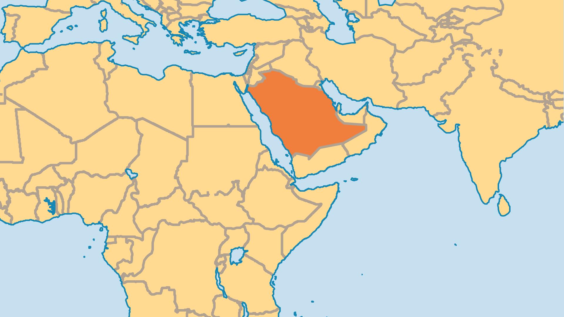 Locator Map for Saudi Arabia