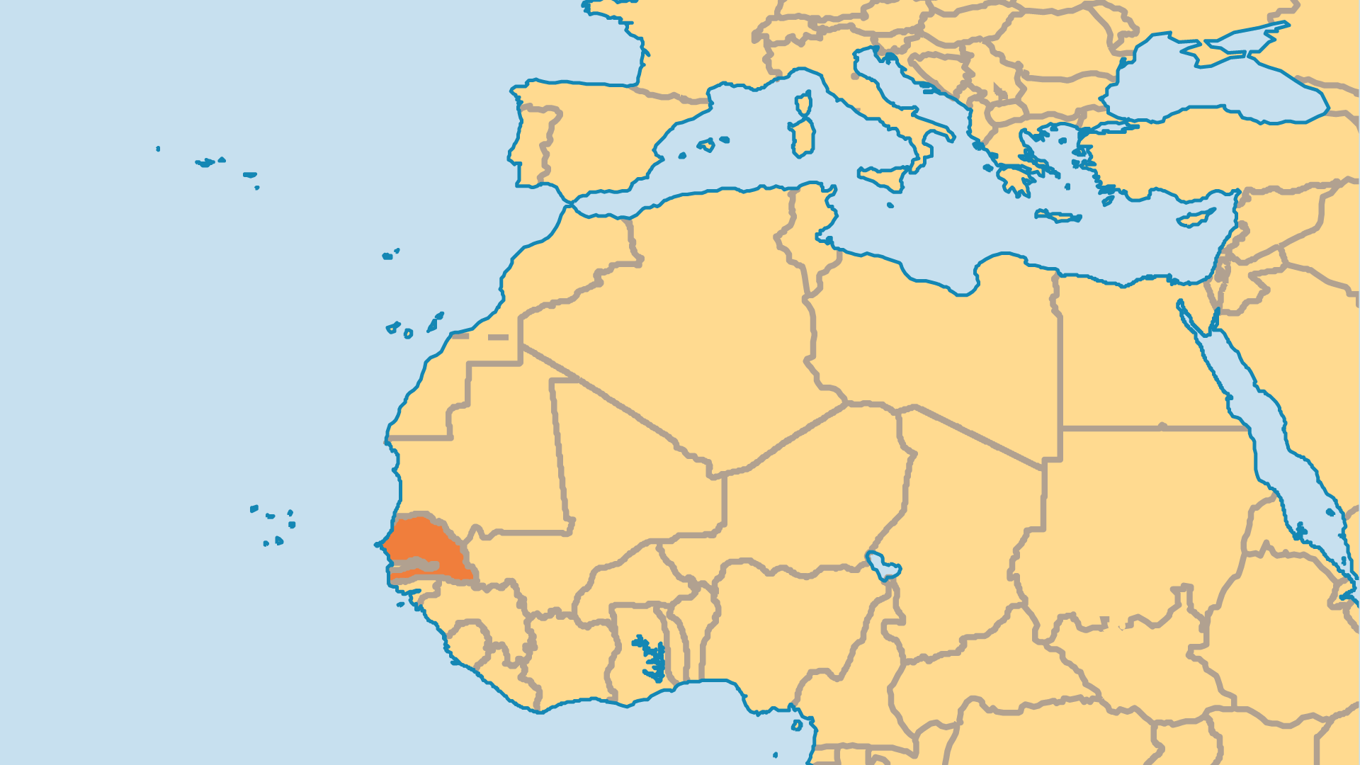 Locator Map for Senegal