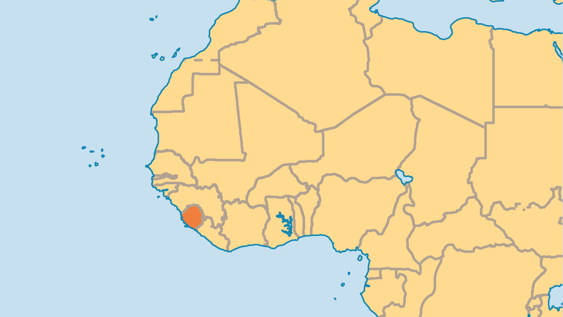Locator Map for Sierra Leone