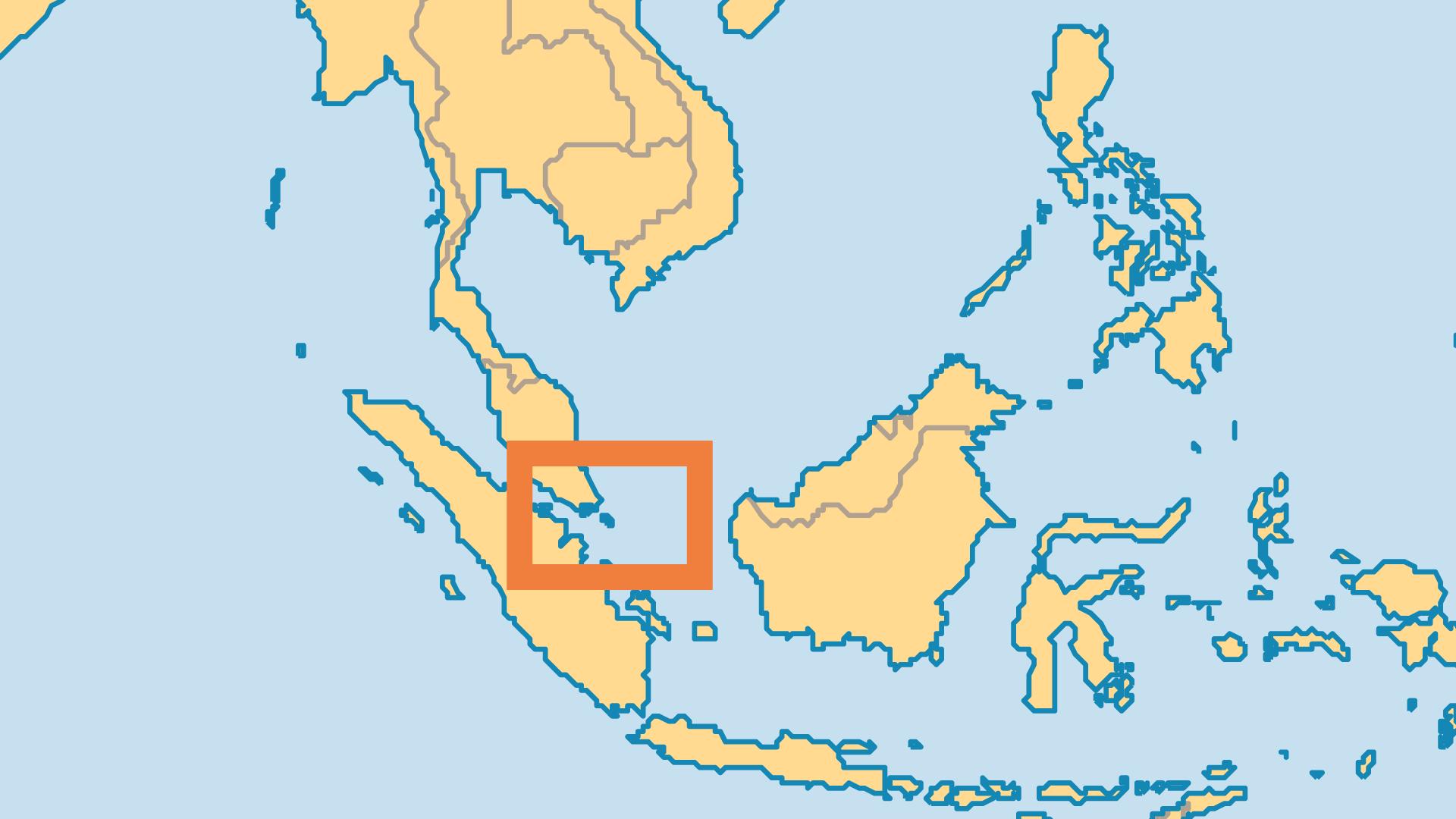 Locator Map for Singapore