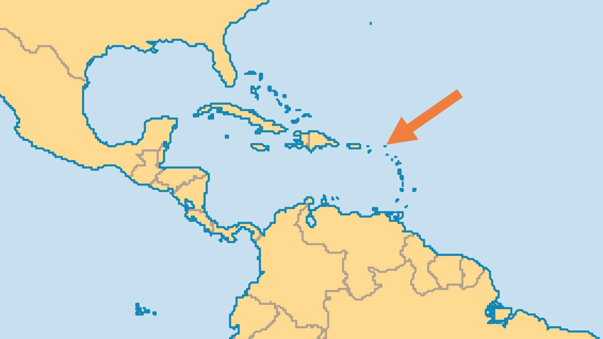Locator Map for Sint Maarten