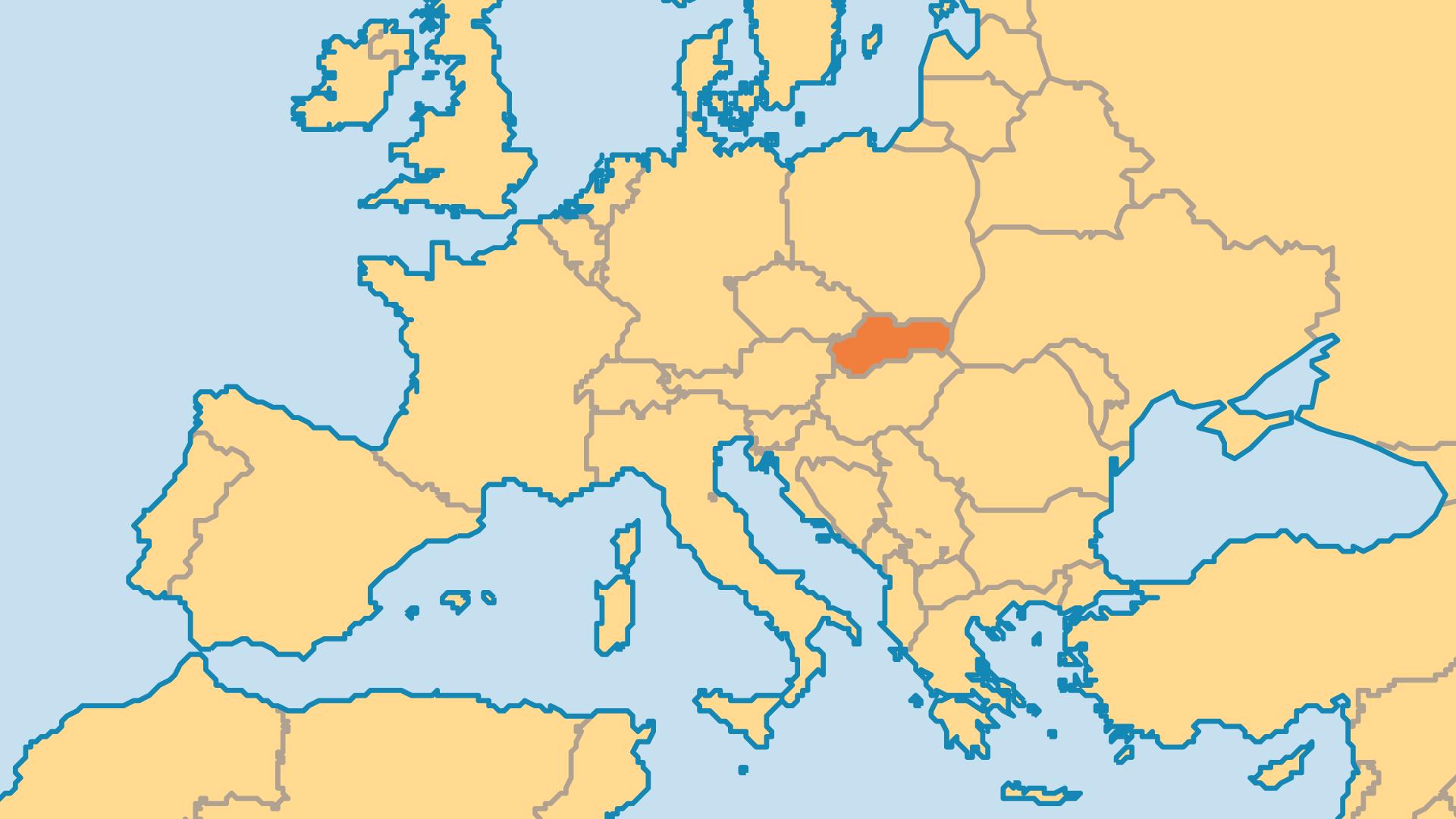 Locator Map for Slovakia