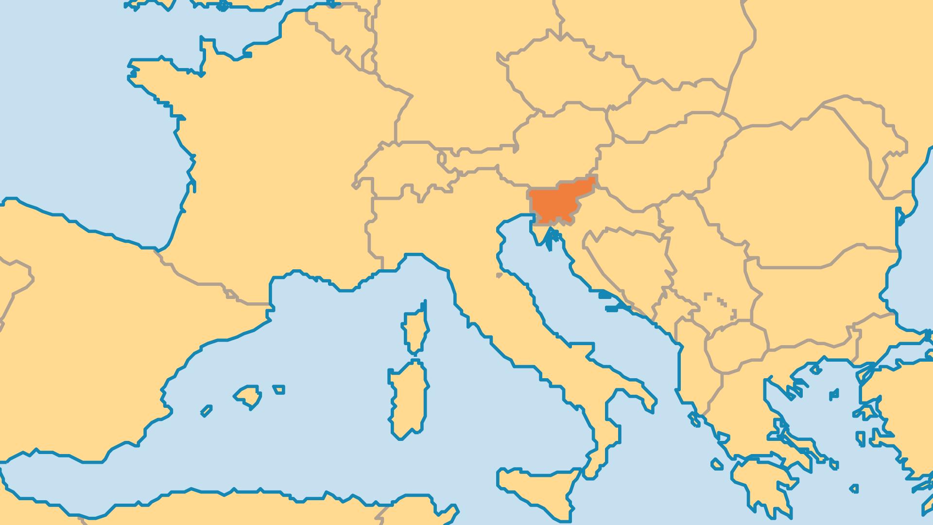 Locator Map for Slovenia