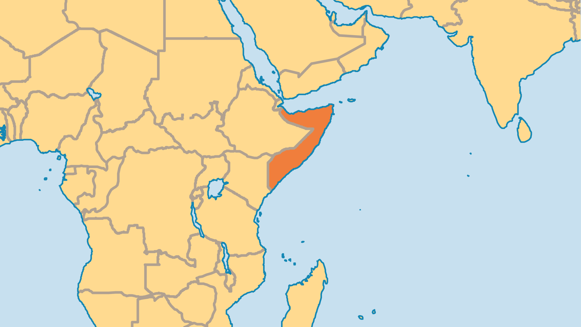 Locator Map for Somalia