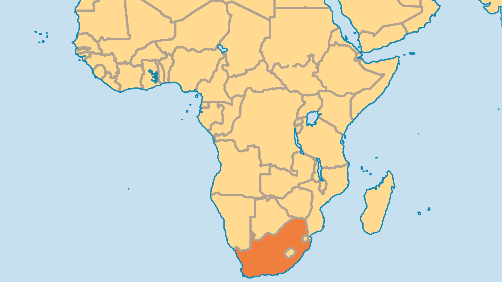 Locator Map for South Africa