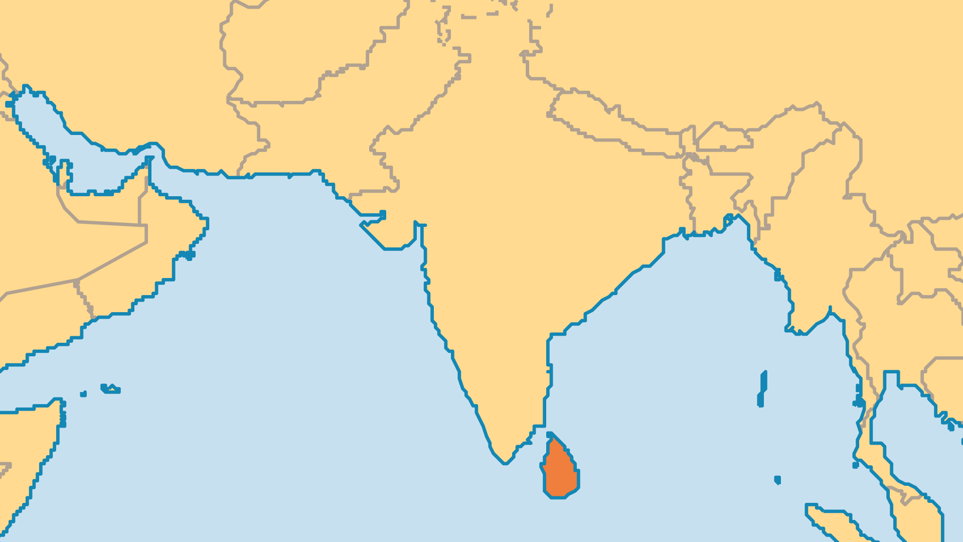 Locator Map for Sri Lanka