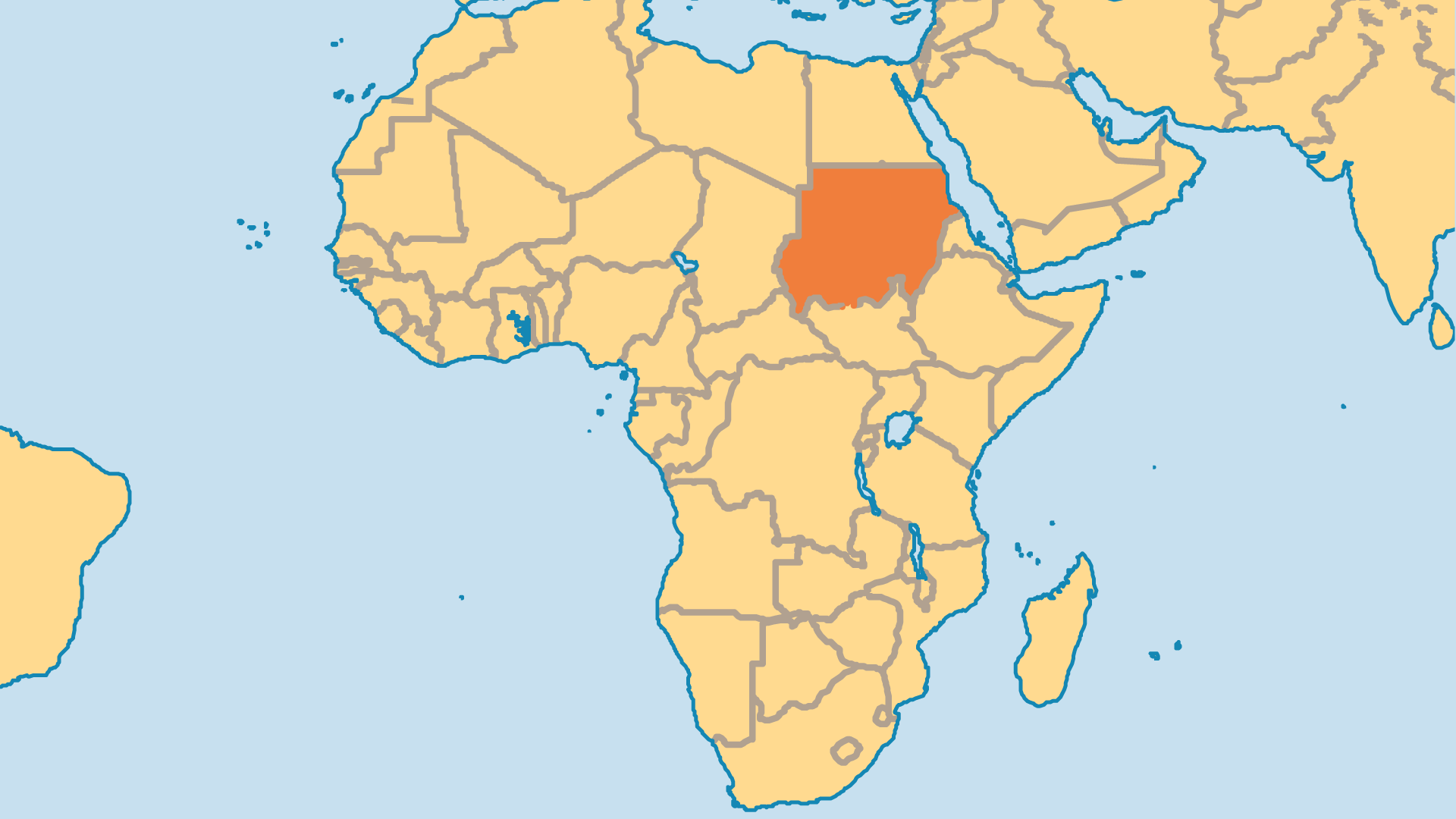 Locator Map for Sudan