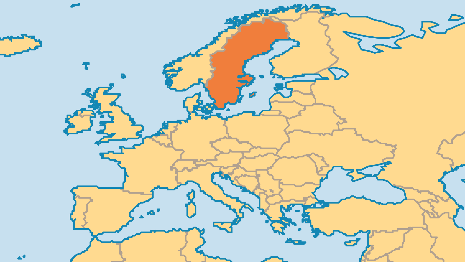 Locator Map for Sweden