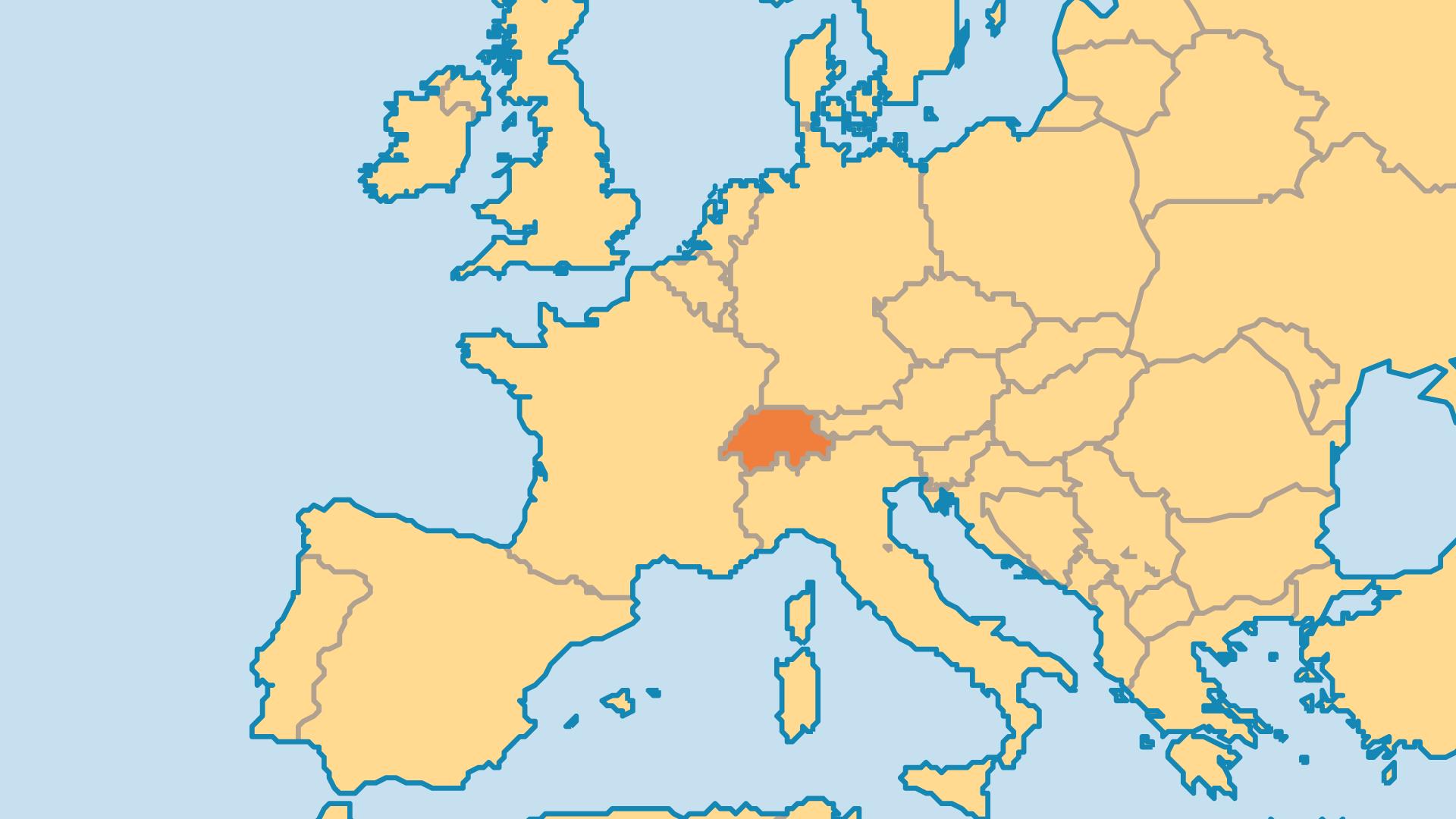Locator Map for Switzerland