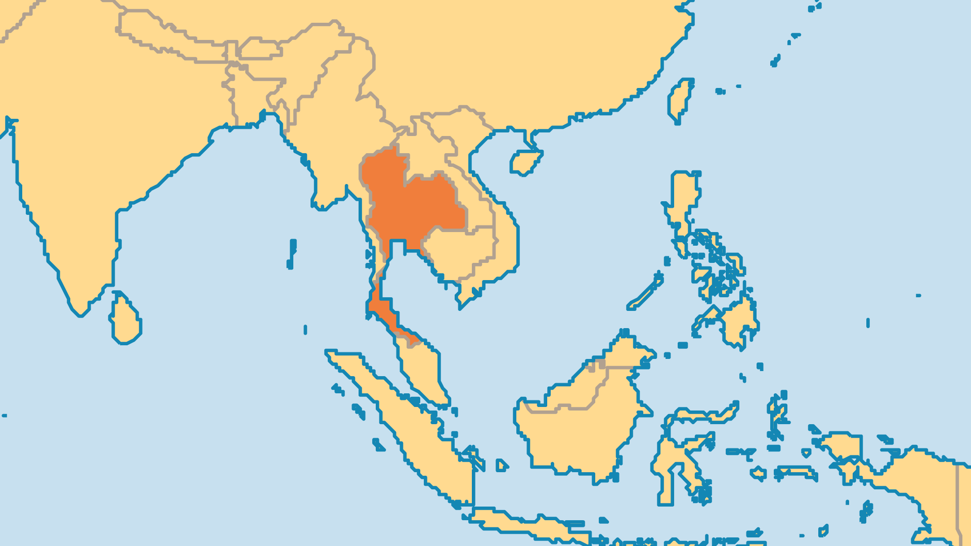 Locator Map for Thailand