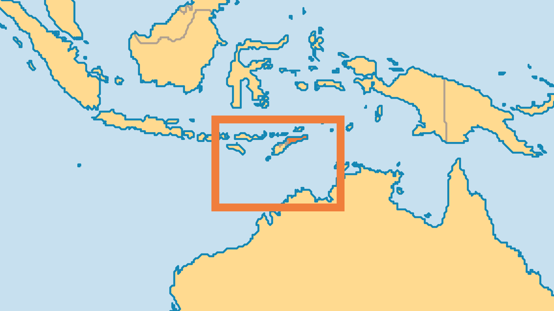 Locator Map for Timor Leste