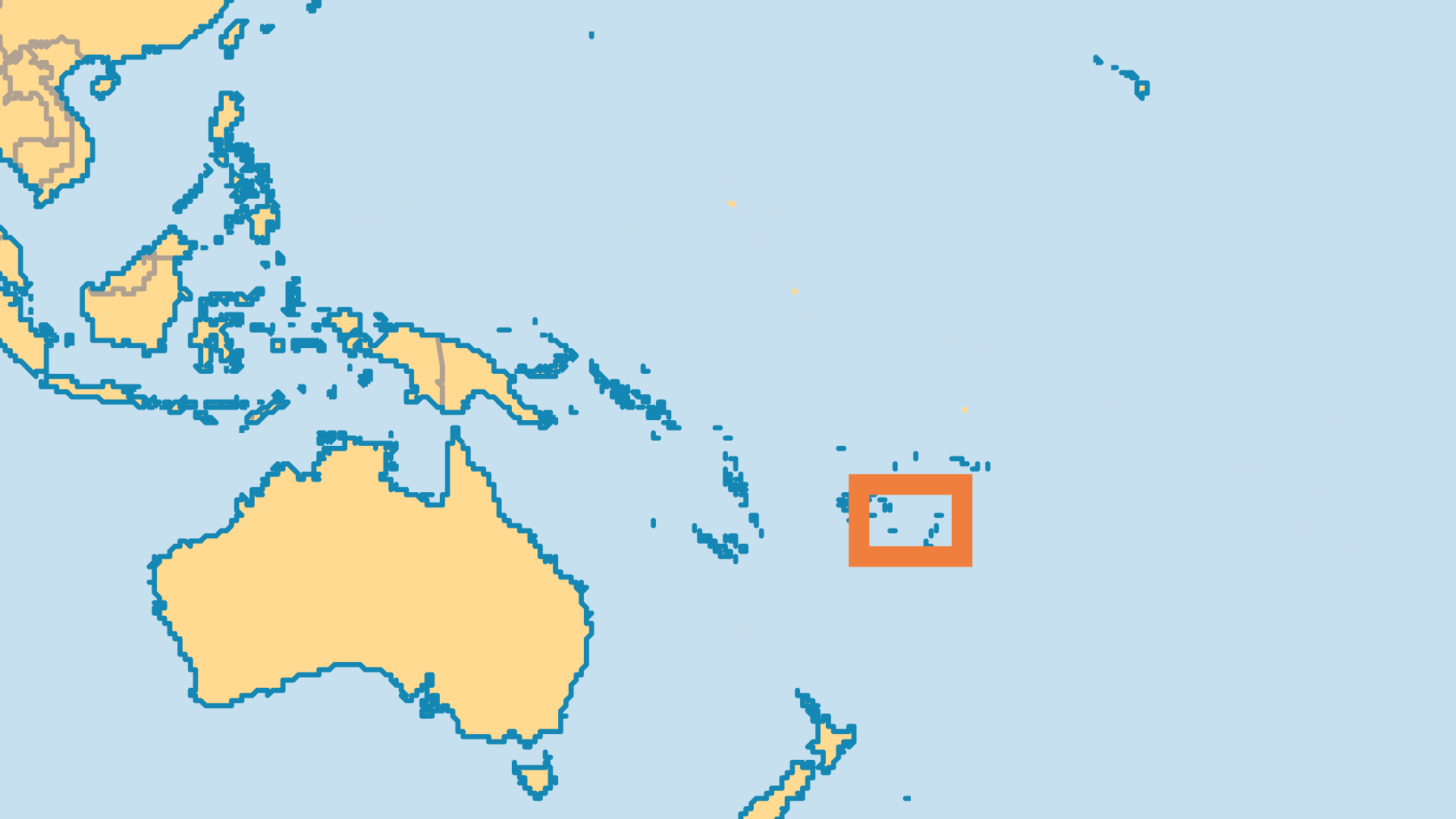 Locator Map for Tonga