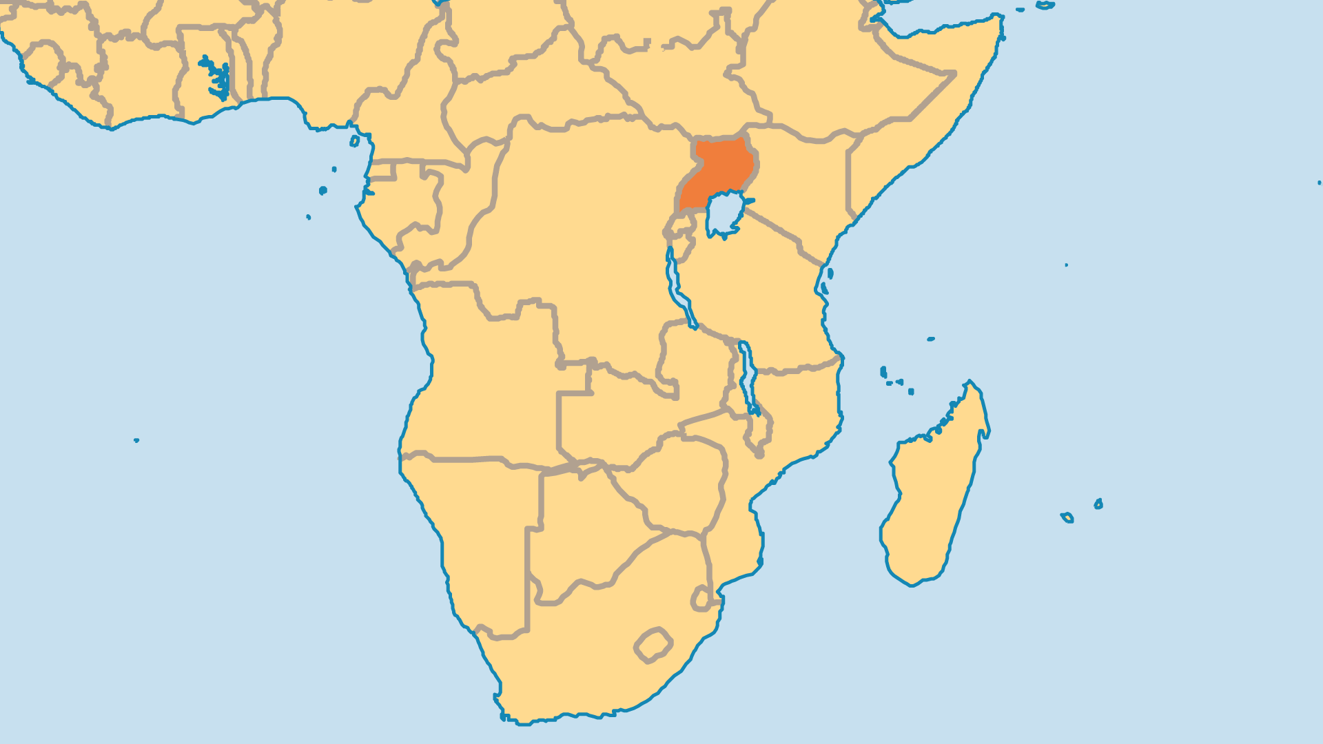 Locator Map for Uganda