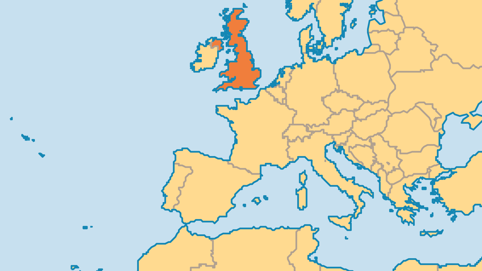 Locator Map for United Kingdom