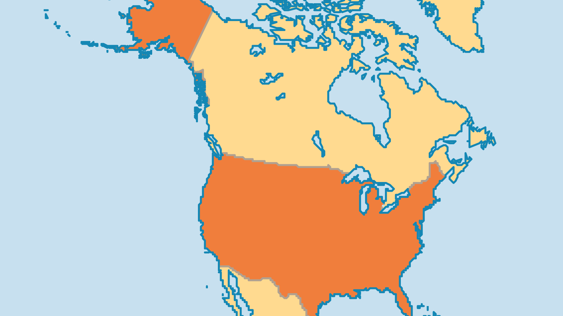 Locator Map for United States of America