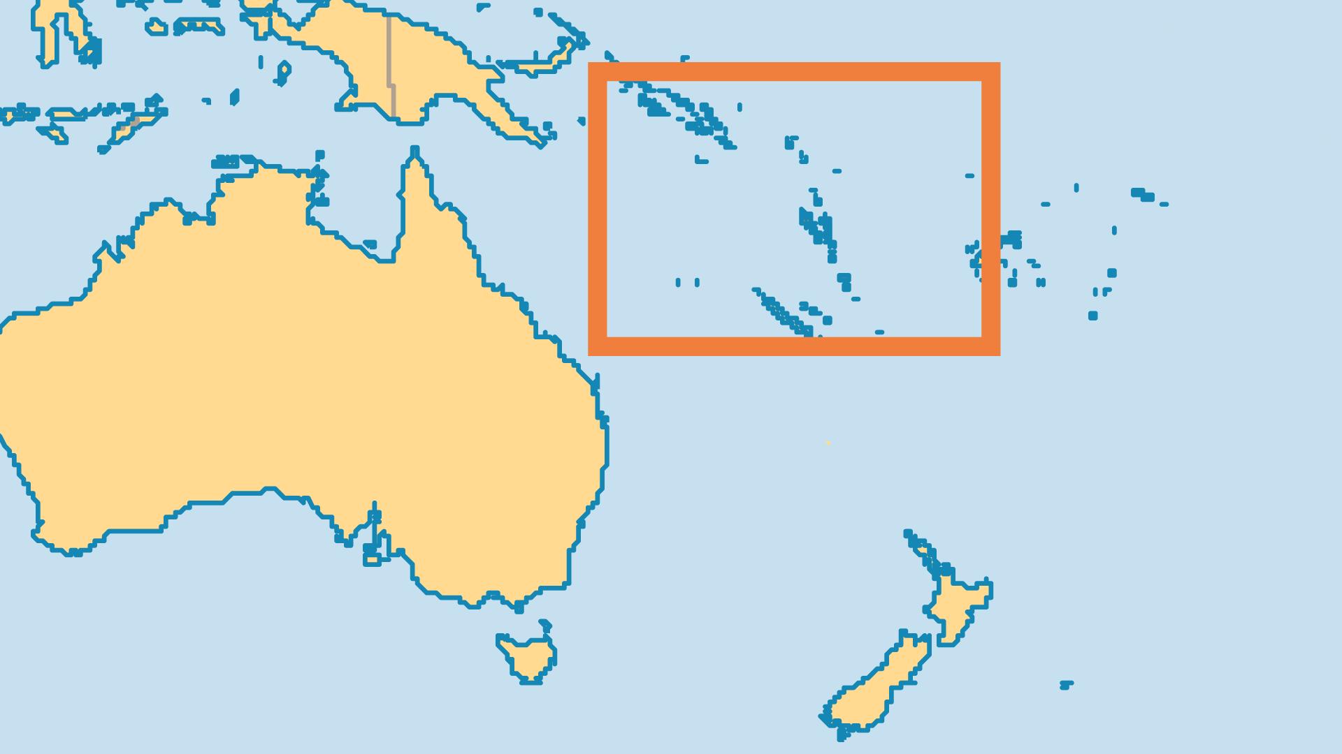 Locator Map for Vanuatu