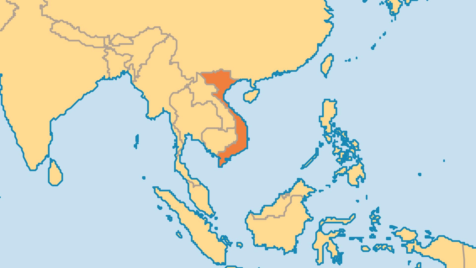 Locator Map for Vietnam