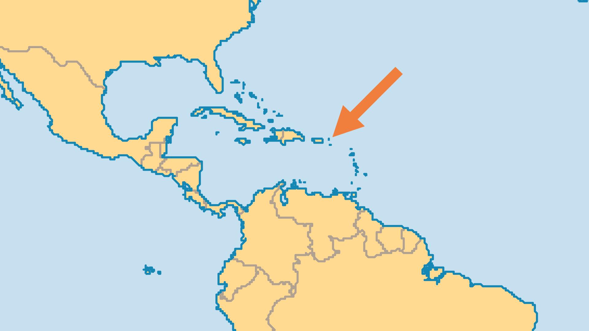 Locator Map for US Virgin Islands